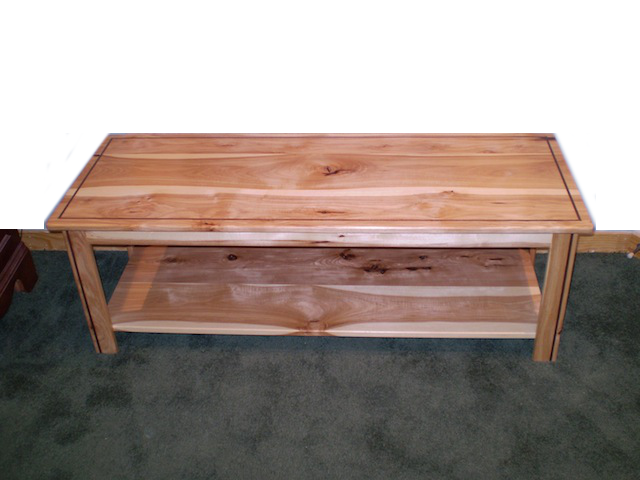 Hickory Coffee Table With Inlayed Walnut Maxson Designs